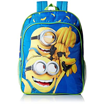 Despicable Me Boys' Universal Multi Compartment 16 Inch Backpack, Blue new