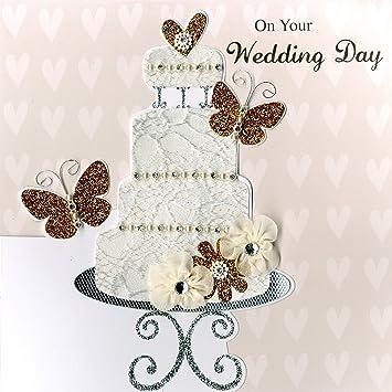 second nature tarjeta de felicitacin para boda diseo de tarta con texto en ingls