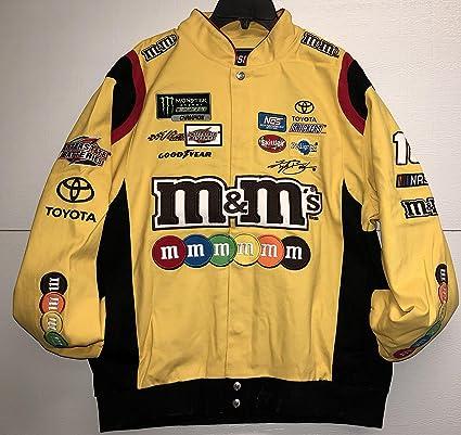 amazon com 2017 kyle busch m m s mens yellow twill nascar jacket