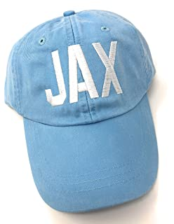 3ef20d8581341 Custom Monogrammed Jax Jacksonville International Airport Code Baseball Hat  (Baby Blue)