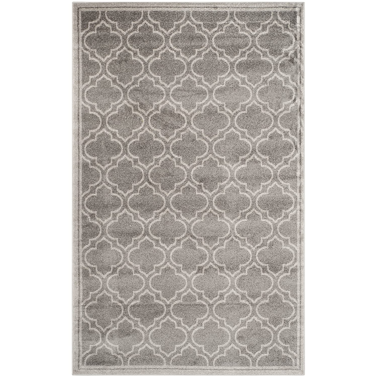 amazoncom safavieh amherst collection amt412c grey and light grey indoor outdoor area rug 6u0027 x 9u0027 kitchen u0026 dining