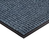 """NoTrax 109 Brush Step Entrance Mat, for Lobbies and Indoor Entranceways, 3' Width x 10' Length x 3/8"""" Thickness, Slate Blue - 109S0310BU"""