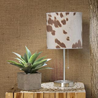 product image for Glenna Jean Faux Cow Mod Lamp, Tan