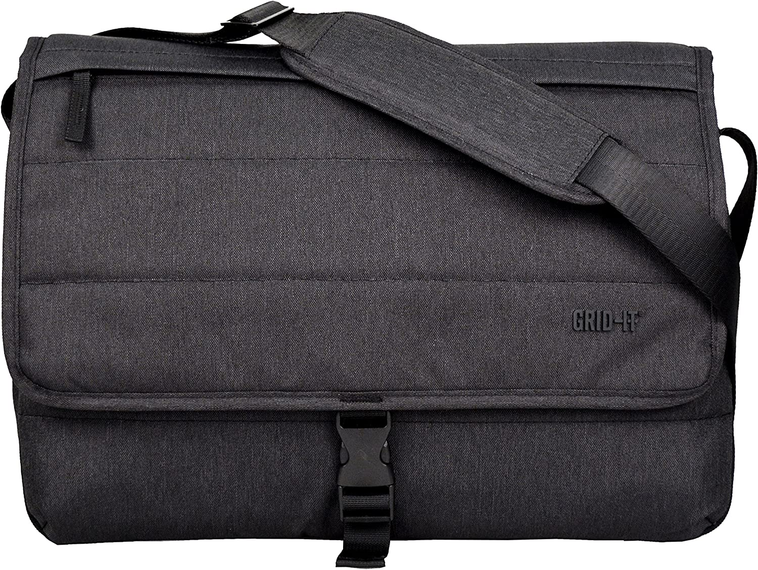 """Cocoon CMB3750CH TECH 16"""" Messenger Bag with Built-in Grid-IT! Accessory Organizer (Charcoal)"""