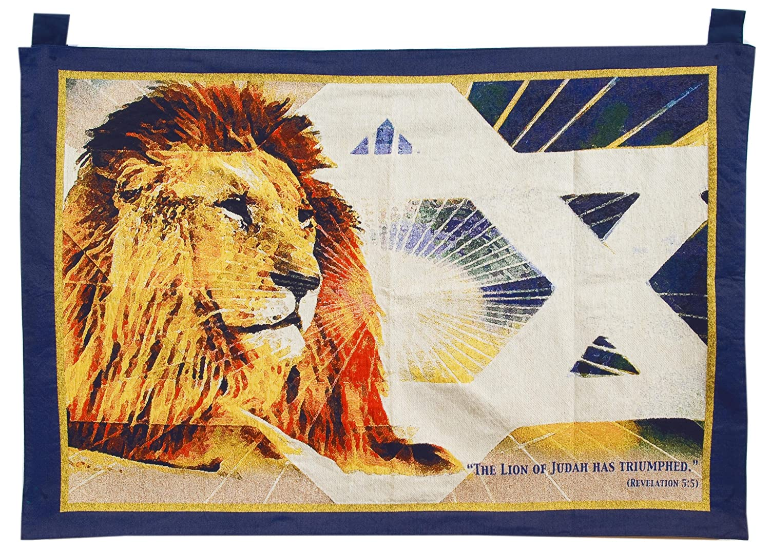 "Tapestry-lion of Judah 27""h x 42""W Holy Land Gifts"
