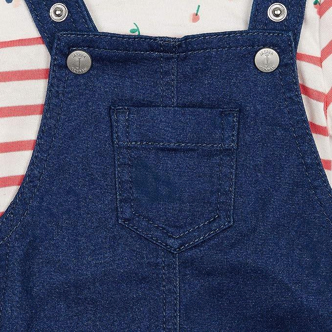 J by Jasper Conran Kids Baby Boys Blue Denim Dungarees and Bodysuit Set