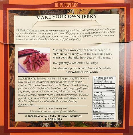 Amazon Hi Mountain Jerky Seasoning Hunters Blend 72oz Total