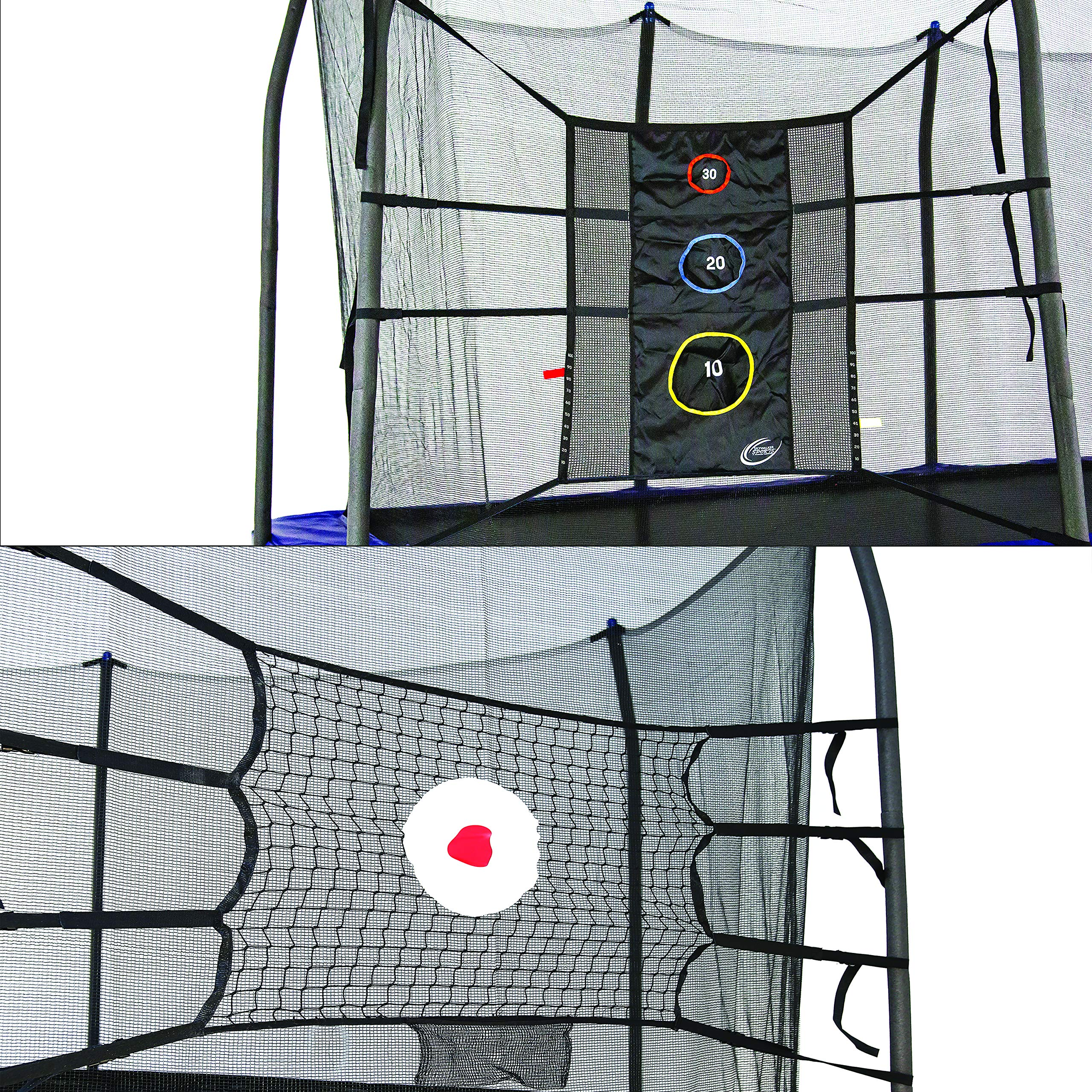 Skywalker Trampolines Game Kit w upper bounce back and triple toss games by Skywalker Trampolines