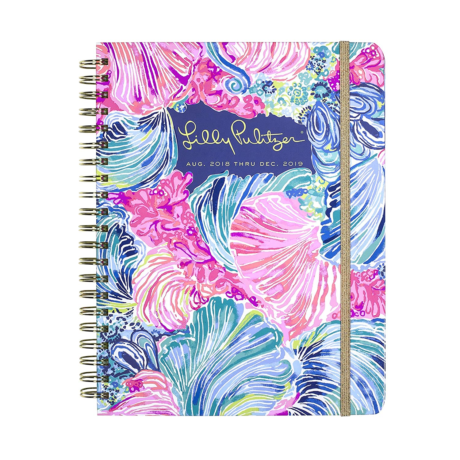 Lilly Pulitzer Jumbo 17 Month Hardcover Agenda, Personal Planner, 2018-2019, Beach Please