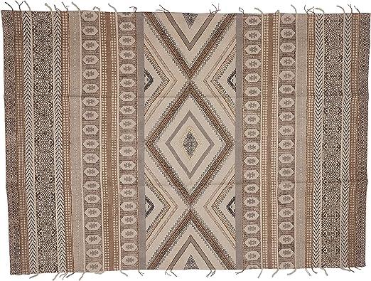 Yute & ~ Co. Alfombra Estampada Olbia, 100% algodón, Multicolor, Talla única: Amazon.es: Hogar