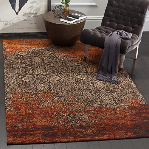 Safavieh Classic Vintage Collection CLV224A Rust and Brown Area Rug 5 x 8