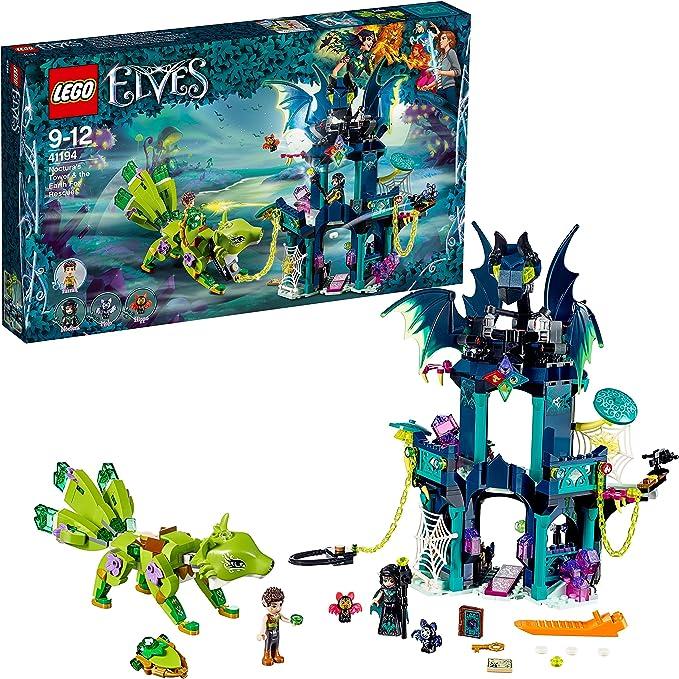 LEGO Elves - Torre de Noctura y el Rescate del Zorro de la Tierra, Juego de Construcción de Aventuras, Incluye Figuras de Murciélagos de Juguete (41194): Amazon.es: Juguetes y juegos