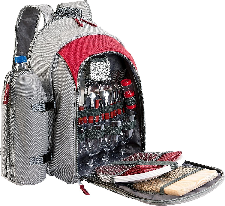 BE NOMAD SE970B - Mochila para pícnic (aislamiento térmico, para 4 personas) talla única rojo/gris