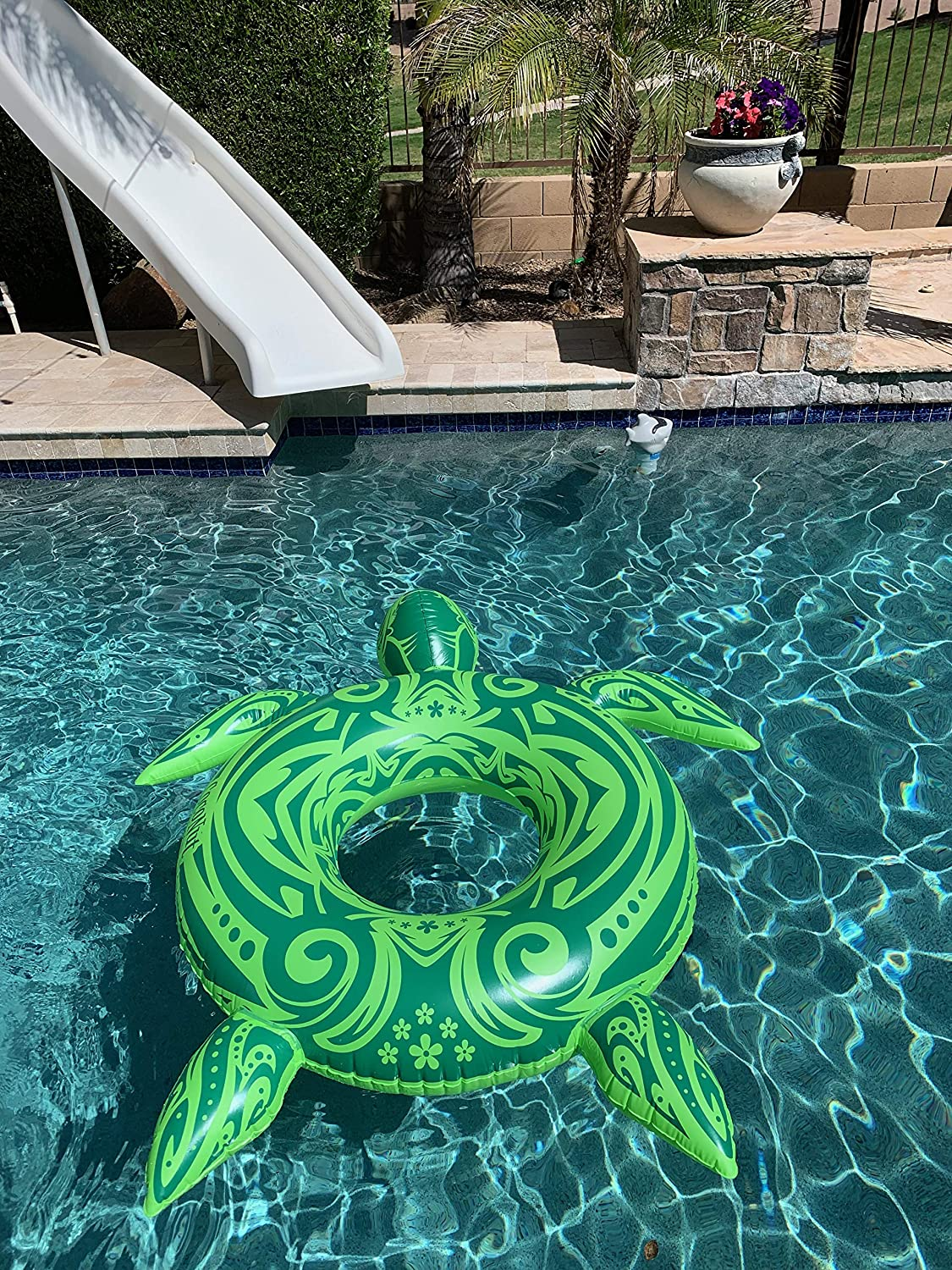 Inflatable Pool Float Sea Turtle - Rafts for Swimming Pool or Beach Summer  Time Party Fun - Adults Lake Floats or River Raft Floats - Floating in ...