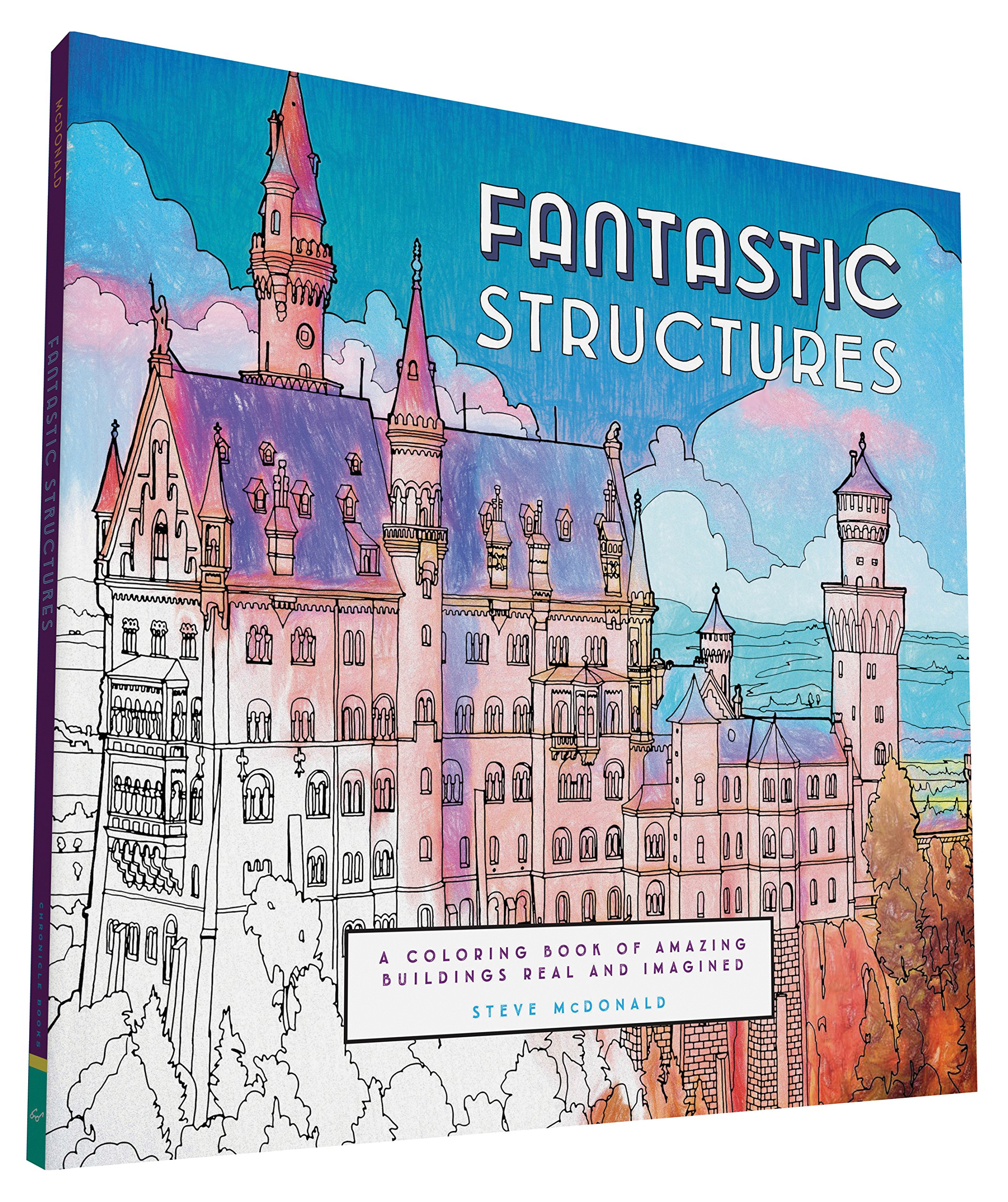Fantastic Structures: A Coloring Book of Amazing Buildings Real and ...