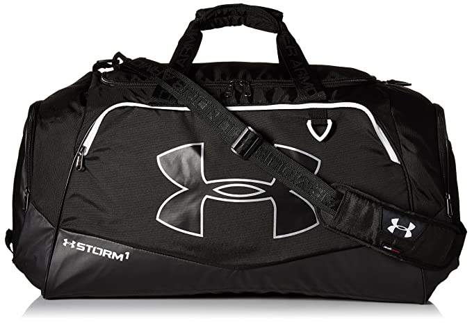 edc8a7575c Amazon.com : Under Armour Undeniable Duffle 2.0 Gym Bag, Black /White, One  Size : Clothing