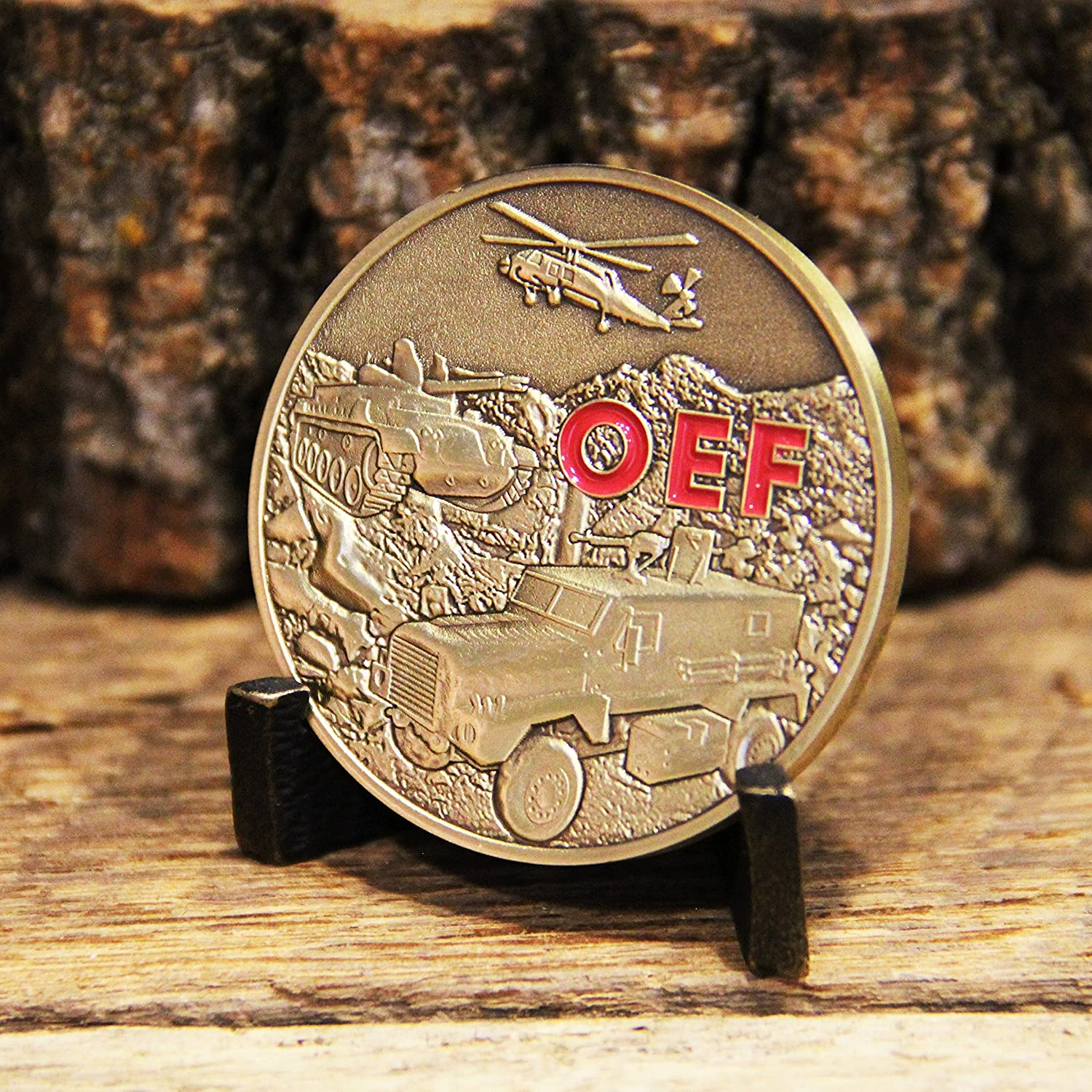 Great 3D detail Die Struck Brass Coin Coins For Anything Inc OEF Operation Enduring Freedom Challenge Coin Military Coin Designed by Military Veterans