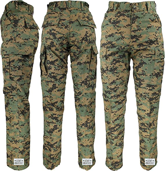 fashion styles big discount of 2019 reasonable price Mens Woodland Digital Camo Poly/Cotton Military BDU Army Fatigues Cargo  Pants with Pin