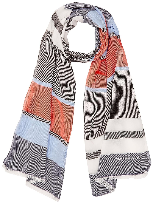 Tommy Hilfiger Multistripe Woven, Bufanda Mujer, Multicolor (Multicolor 901), Talla única (Talla del fabricante: OS)