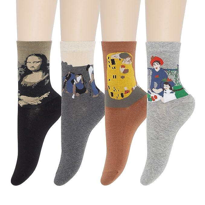 Amazon.com: KONY - 4 a 7 pares de calcetines de algodón para ...