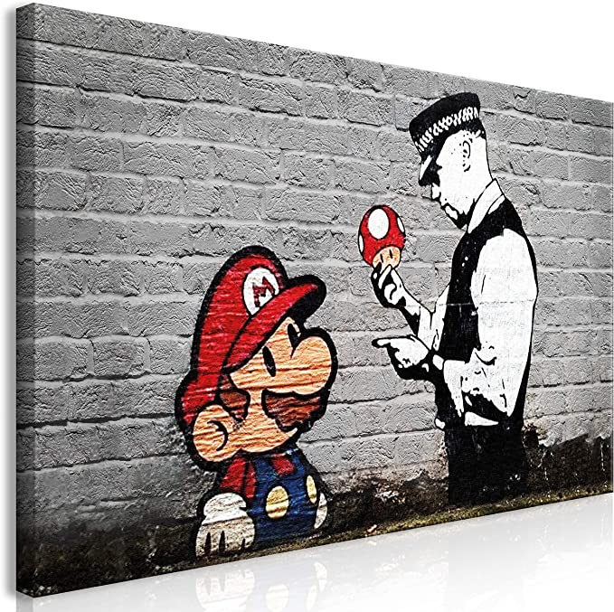 BANKSY Canvas Print Framed Wall Art Picture Photo Image i-C-0104-b-m