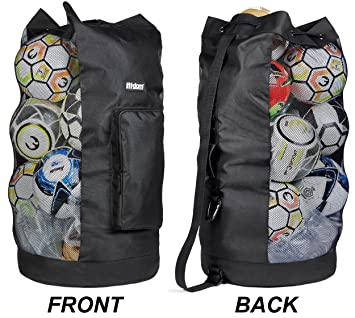 Amazon.com: Fitdom - Bolsa de malla para pelota de fútbol ...