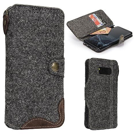 Urcover® Carcasa Samsung Galaxy S8 en Fieltro | Protector ...