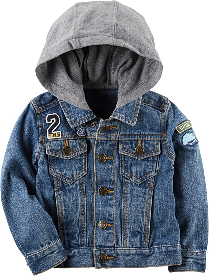 toddler hooded denim jacket