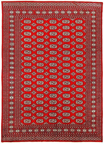 Carpetfine Pakistan Buchara 2ply Teppich 184x280 Rot Handgeknupft