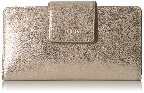 Fossil Emma Rfid Tab Clutch Pale Gold Metallic Wallet