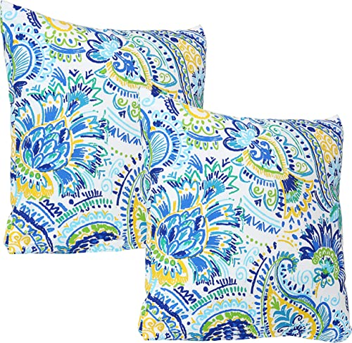 Sunnydaze Indoor and Outdoor Decorative Throw Pillows Set of 2 - the best outdoor pillow for the money