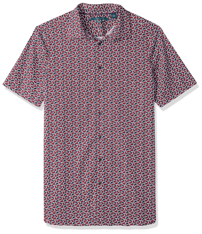 Perry Ellis Mens Essential Big and Tall Plaid Pattern Shirt
