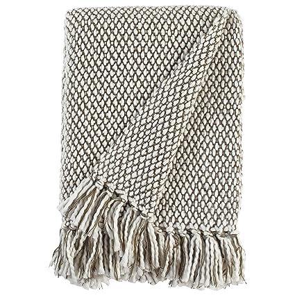 02335616e Amazon.com: Stone & Beam Modern Woven Farmhouse Throw Blanket, Soft and  Cozy, 50
