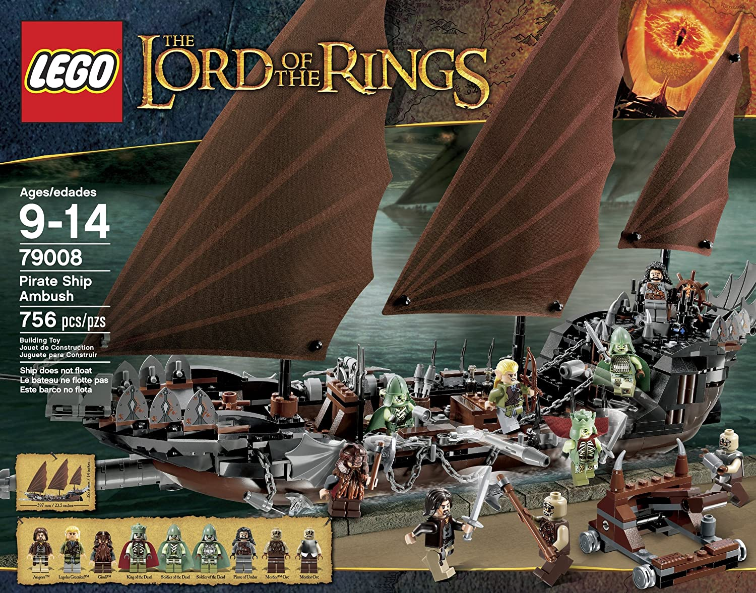 Amazon.com: LEGO LOTR 79008 Pirate Ship Ambush (Discontinued by  manufacturer): Toys & Games