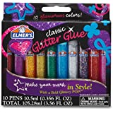 Elmer's 3D Washable Glitter Glue Pens, Classic Rainbow, Pack of 10 Pens (E199)