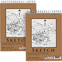 A4 SKETCH DRAWING PAD BOOK QUALITY ARTIST SKETCHING ART FLIP-UP 45 SHEETS 70GSM