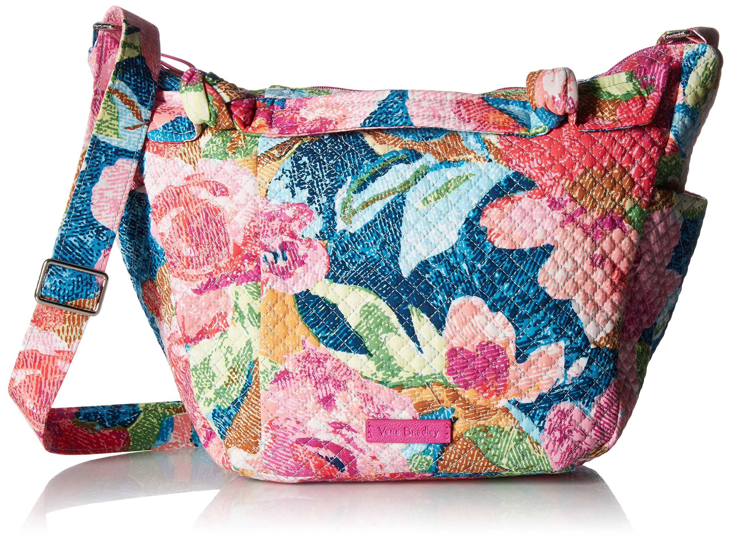 Vera Bradley Hadley On The Go Satchel, Signature Cotton, Superbloom