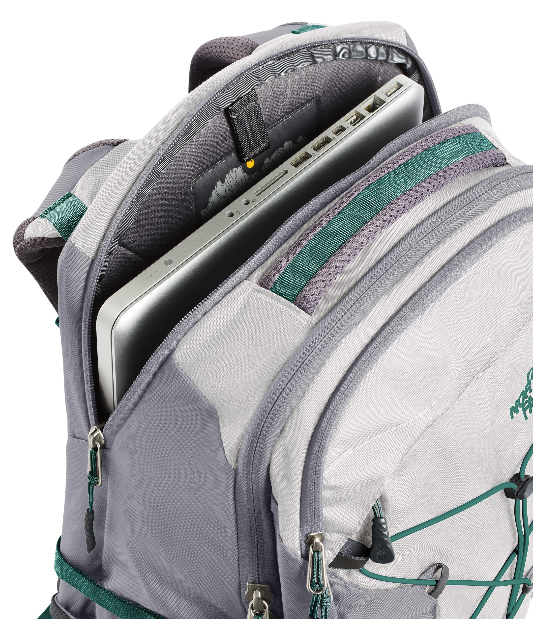 The North Face Women's Borealis Laptop Backpack - 15'' (Tin Grey/Mid Grey) by The North Face (Image #4)