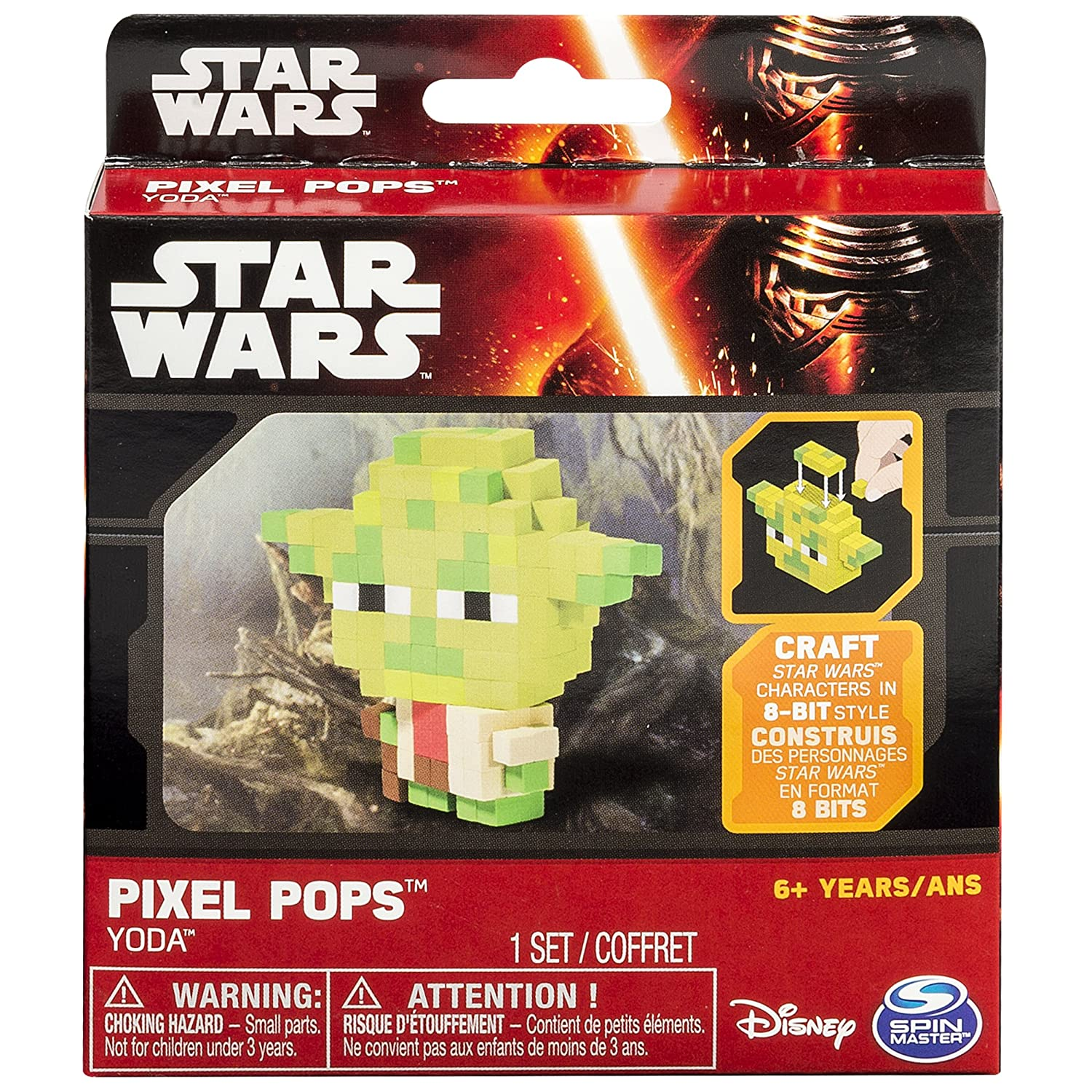 Details about STAR WARS | Classic Pixel Pops 8-Bit Yoda Jedi Council Force  Master Toy