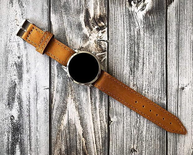 54ffd30397d154 Amazon.com: Custom Leather Watch Strap Handmade Horween Leather Watch Band  18mm 19mm 20mm 21mm 22mm 23mm 24mm watch straps: Handmade