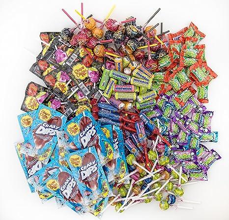 Chupa Chups Süßigkeiten Party-Mix, 200 Stück 1870 g, nur Markenware, Klassiker + Spezial-Artikel: Lutscher, Kau-Bonbons, Kaug