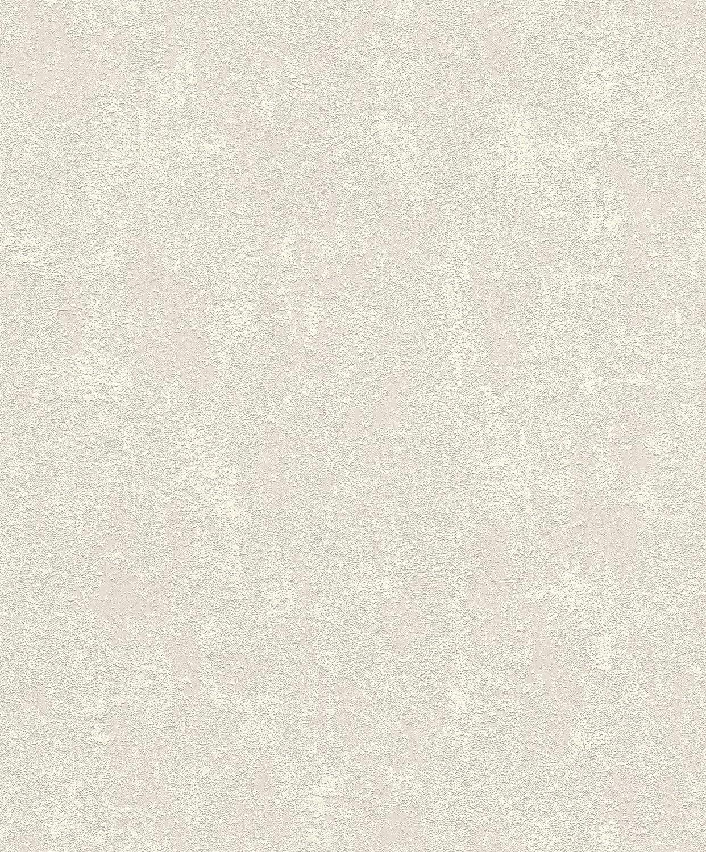 Greige 10.05 0.53 m Rasch Tapeten Vliestapete Grau 10,05 m x 0,53 m Tapetenwechsel 809428 Tapete universell
