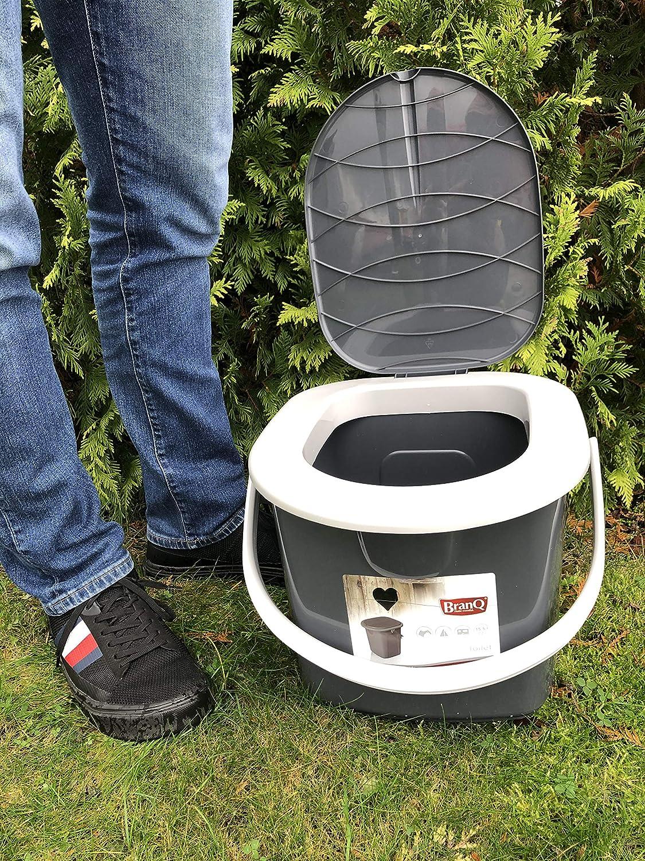 BranQ - inodoro WC Cubo de viaje, 15,5 l camping