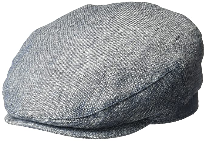 3cc47a87 Henschel Mens 100% Linen Ivy Hat Hat with Cotton Lining Newsboy Cap ...