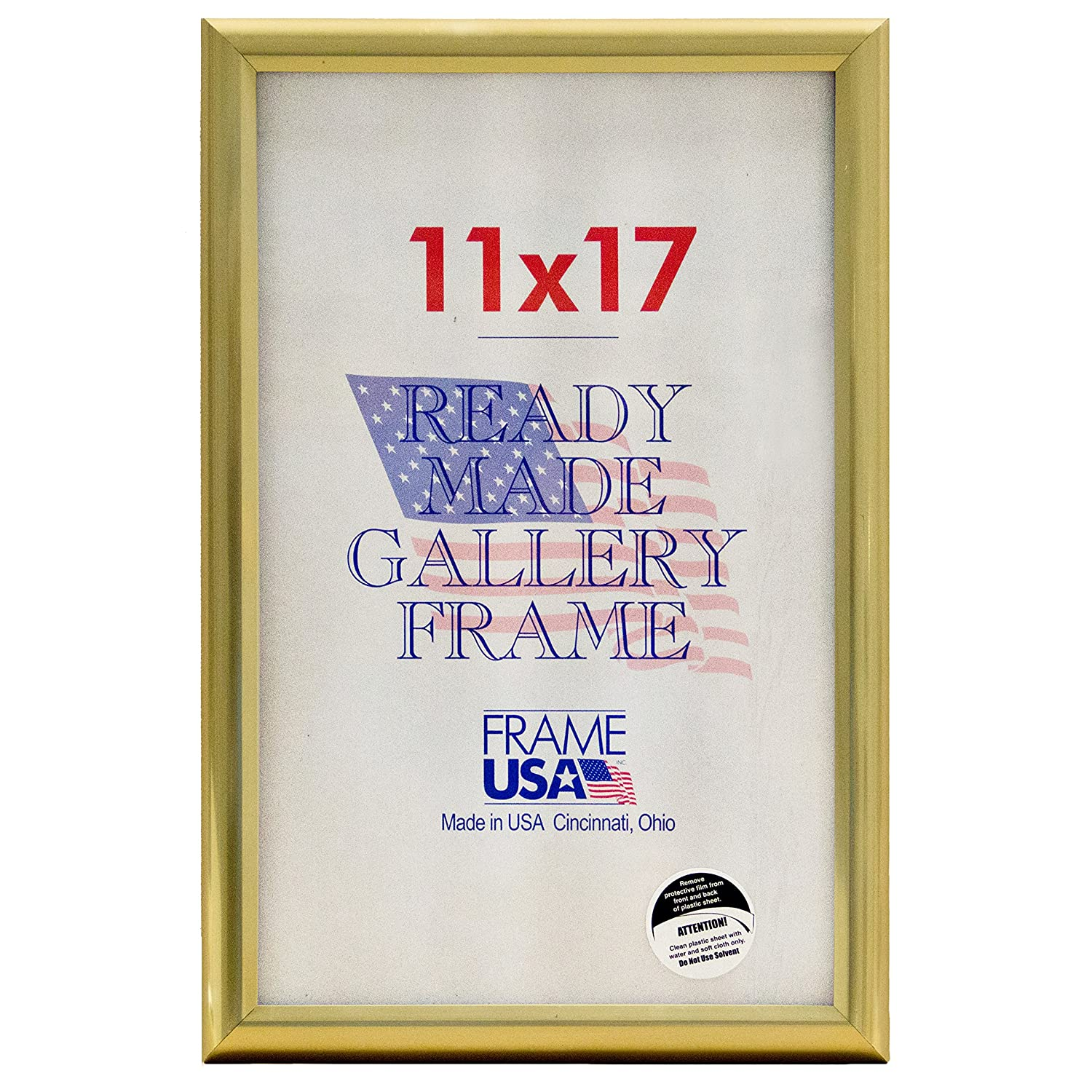 Amazon.com: Deluxe Poster Frame Frames, 11 x 17, Gold: Posters & Prints