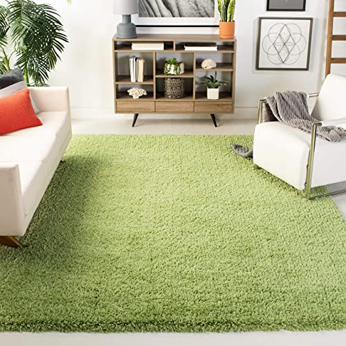 Safavieh Classic Shag Collection SG240B Handmade Lime Area Rug 7 6 x 9 6