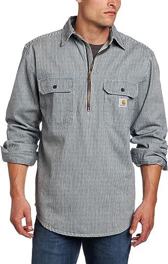 Carhartt Hickory - Camisa de Mezclilla con Cremallera para Hombre - Azul - 3X-Large: Amazon.es: Ropa y accesorios