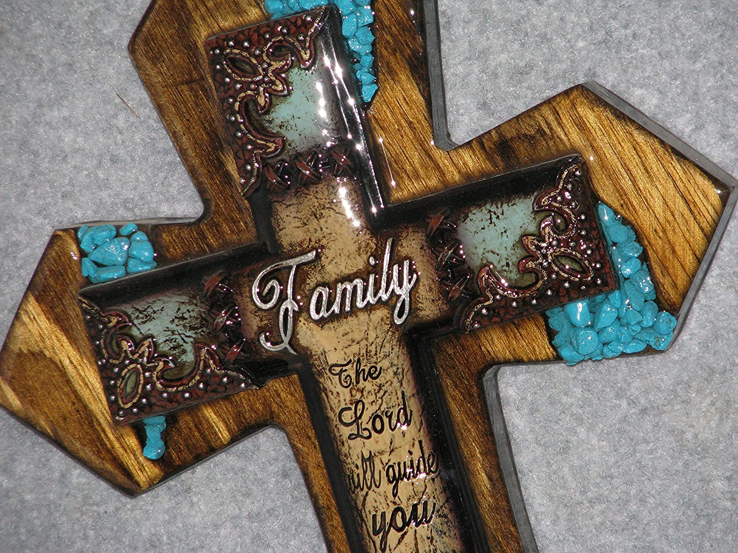decorative wall cross, Family, handmade, wooden, one of a kind