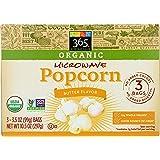 365 Everyday Value, Organic Microwave Popcorn, Butter Flavor, 3.5 oz, 3 pk
