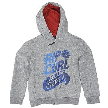 Rip Curl Time To Surf HZ Fleece - Sudadera para niños, color gris